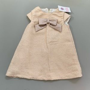 Luli Boutique gold NWT NYE New Years Eve dress 2t
